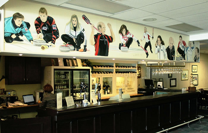 Famous Canadian Curlers Mural