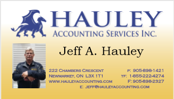 jeff hauley business card